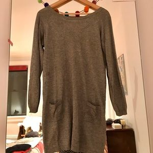 Ba&sh grey sweater dress